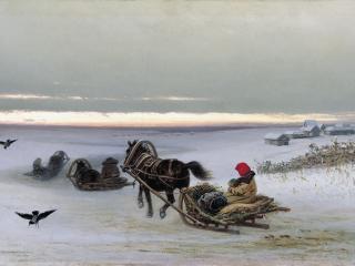 обои Пётр ГРУЗИНСКИЙ (1837-1892). Домой. 1881 фото