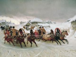 обои Пётр ГРУЗИНСКИЙ (1837 — 1892). Масленица фото