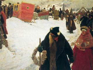 обои Сергей ИВАНОВ  Приезд иностранцев. XVII век. 1901 фото