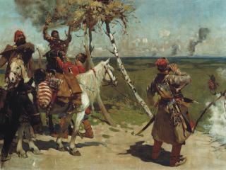 обои для рабочего стола: Сергей ИВАНОВ (1864-1910). На сторожевой московской границе
