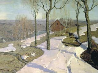 обои Вильгельм ПУРВИТ (1872-1945). Последний снег фото