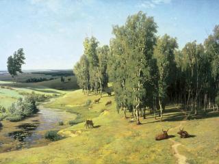 обои Владимир ОРЛОВСКИЙ  Летний день 1884 фото