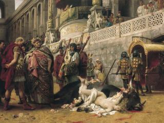 обои Генрих СЕМИРАДСКИЙ  Христианская Дирцея в цирке Нерона фото