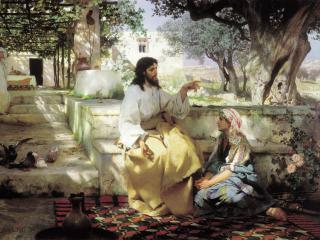 обои Генрих СЕМИРАДСКИЙ  Христос у Марфы и Марии фото
