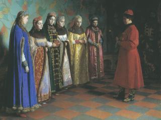 обои Выбор невесты царём Алексеем Михайловичем фото