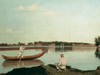обои Рыбаки фото