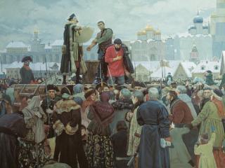 обои Казнь Пугачёва. «Прости, народ православный» фото