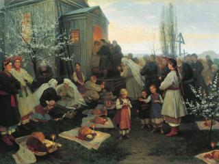 обои Николай ПИМОНЕНКО (1862-1912). Пасха фото