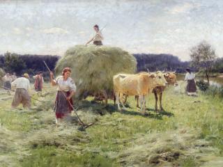 обои Николай ПИМОНЕНКО (1862-1912). Сенокос фото