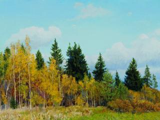 обои Олег ПУТНИН (род. 1974). Осенний лес. 2005 фото