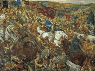 обои Удар Засадного полка (Куликовская битва) фото
