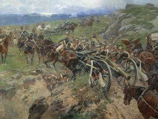 обои Франц РУБО (1856-1928). Живой мост. 1897 фото
