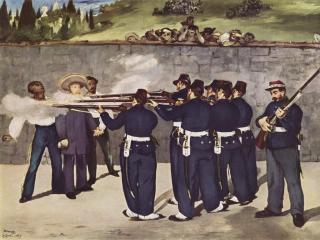 обои Э. Мане - Расстрел короля Мексики Максимилиана фото