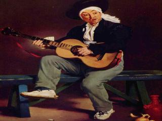 обои Эдуар Мане - Испанский музыкант (Гитарреро) фото