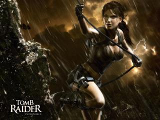 обои Tomb Raider - Underworld - Лара под дождем фото