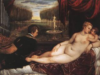 обои для рабочего стола: Тициан - Венера и органист