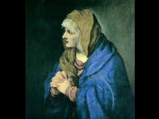 обои для рабочего стола: Тициан - Мать Cкорбящая (Dolorosa)