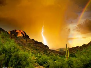 обои Гроза в горах Аризоны фото