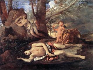 обои Никола Пуссен - Эхо и Нарцисс фото