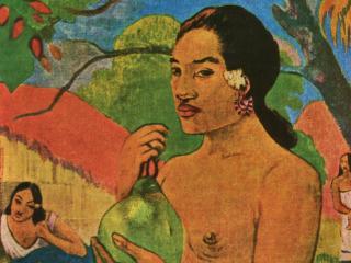 обои Гоген - Тайская женщина и плод фото