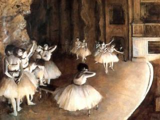 обои Degas - Репетиция балета на сцене фото