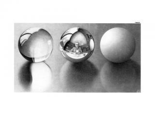 обои М. Эшер - Три сферы II фото