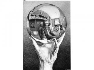 обои Hand with Reflecting Sphere фото