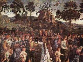 обои Пьетро Перуджино - Исход Моисея из Египта фото