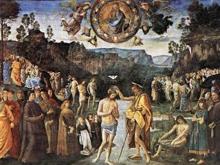 обои Пьетро Перуджино - Крещение Христа фото