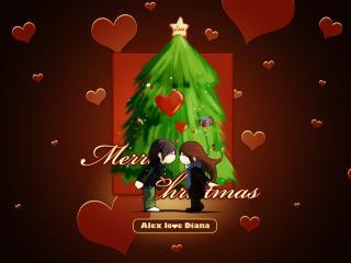 обои Merry Christmas и любовь фото