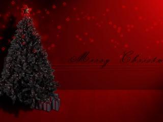 обои Весёлого Рождества - ёлка ждёт фото