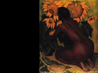 обои Diego Rivera - Desnudo con girasoles фото