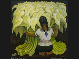 обои Диего Ривера - Flower Seller фото