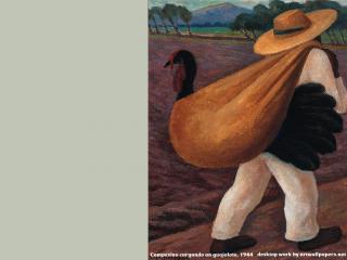 обои Diego Rivera - Campesino cargando un guajolote фото