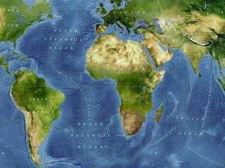 обои Карта мира с физической подробностью фото