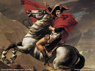 обои Жак Луи Давид - Наполеон на перевале Сен-Бернар фото
