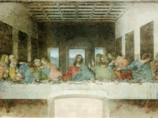 обои Старая фреска да Винчи в церкви фото