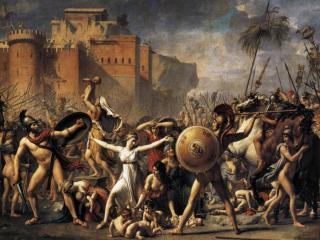 обои Жак Луи Давид - Сабинянки, останавливающие битву между римлянами и сабинянами фото