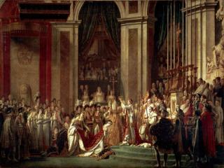 обои Жак Луи Давид - Посвящение императора Наполеона I и коронование императрицы Жозефины фото