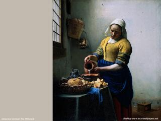 обои Ян Вермер - Молочница фото