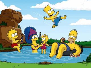 обои Семья Симпсонов на отдыхе фото