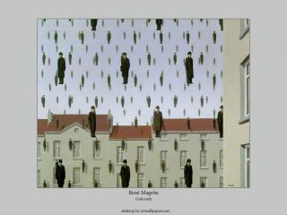 обои Рене Магритт - «Голконда» фото