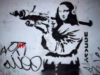 обои Мона Лиза с гранатомётом фото