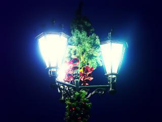 обои Новогодние фонари фото