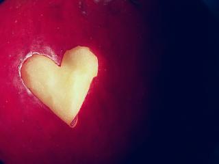 обои Яблочное сердце фото