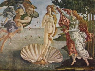 обои Сандро Боттичелли - Рождение Венеры фото