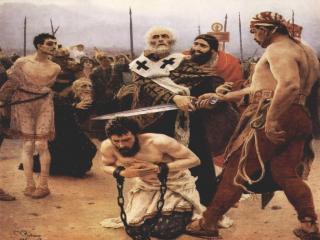 обои И. Репин - Николай Мирликийский избавляет от смертной казни трех невинно осужденных фото