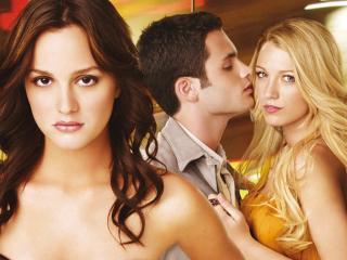 обои Сплетница: Блэр, Серена, Дэн фото