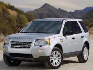 обои для рабочего стола: Land Rover Freelander серебро