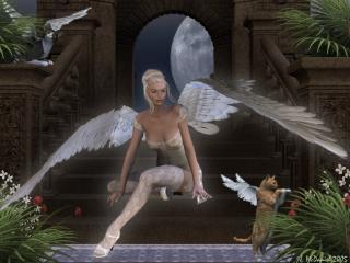 обои Ангел - девушка фото